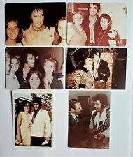 Elvis Presley -6 Original Candid Photos - 1968 to 1975