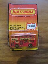 SEALED ON CARD MATCHBOX 1983 MB51 LONDON BUS You'll Love New York w Free ship!