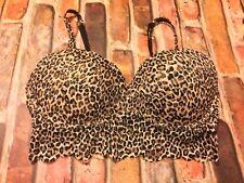 fa1f2d5e85 Pink By Victoria s Secret Lace Bralette Size Small Sexy Leopard Print