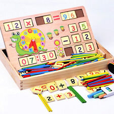 Teaching Clock Time Learning Maths Mathematics Digit Counting Toy For Kids CB