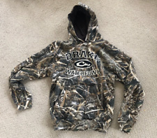 Drake Hoodie Embroidered Logo Men's Large Max 5 Camo 80% Cotton / 20% Poly NEW