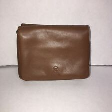 Vintage Etienne Aigner Pouch Wallet Brown Leather Coin ID Pocket 4 x 3.25 NEW