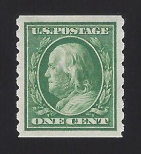 US #392 1910 Green Wmk 190 Perf 8.5 Vert Mint OG LH VF SCV $30