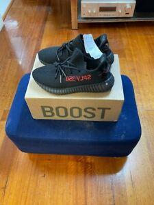 """*NEW / UN-USED*"""" SIZE US 10 """"Adidas Yeezy Boost 350 v2 Black/Red"""