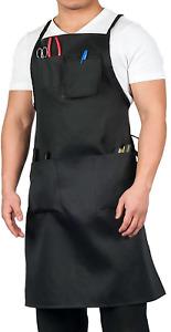 Apron Heavy Duty Work Shop Utility Tool Storage Pockets Black For Men Women New