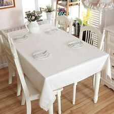 White Table Cloths Cotton Linen Lace Tablecloth Dining Table Covers For Kitchen