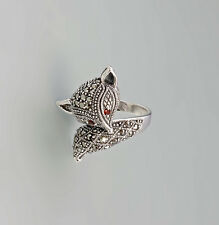 9927441 925er Silber Markasiten Ring Fuchs Granataugen Gr. 55