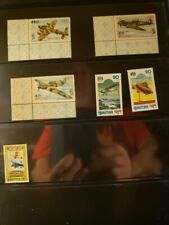 Bhutan Aircraft & Aviation Stamps Lot of 9 - MNH  - See Detail for List