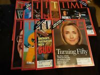 Lot of 10 TIME Magazines - 1996/1997/1998