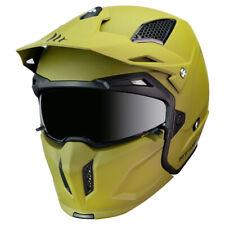 MT Streetfighter Modular Motorradhelm Matt Grün Crash Deckel Urban Mit Maske