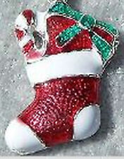 Weihnachten Stiefel Anhänger Bettelarmband Advent Xmas versilbert Emaille #