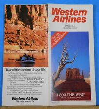 Western Airlines Time Table 1987 March 1 Timetable Schedules