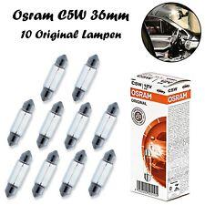 10x Osram C5W 36mm 5W 12V 6418 Original Innenbeleuchtung Ersatz Soffitte Lampe