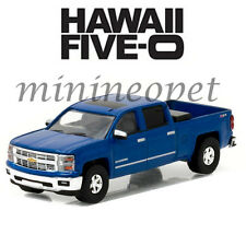 GREENLIGHT 44760 E HAWAII FIVE O 2014 CHEVROLET SILVERADO PICKUP TRUCK 1/64 BLUE