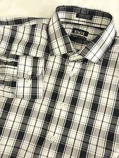 NORDSTROM 1901 Men's L/S Plaid Button Front Shirt Size 16 1/2 Non Iron TRIM FIT
