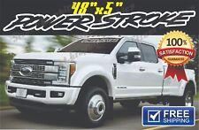 Power Stroke outline Windshield vinyl decal sticker banner