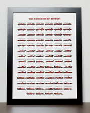 FERRARI Formula 1 The Evolution of Ferrari Poster - Formula One - F1 - Formula 1