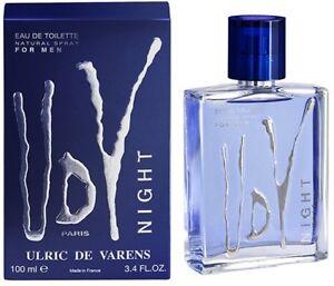 UDV ULRIC DE VARENS MEN NIGHT Eau De Toilette Spray EDT Cologne 100ml 3.4oz