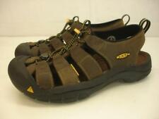 Men's 10 M Keen Newport H2 Bison Brown Leather Waterproof Sandals Sport Slip-On