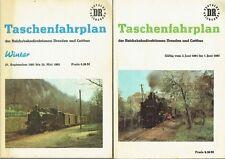 3 Taschenfahrpläne dr Reichsbahndirektionen Dresden Cottbus 1981-88 DDR Fahrplan