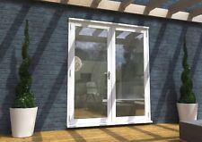 X WHITE FRENCH DOORS - 6ft 1800mm 54mm - 1.4 U-VALUE - PRE-FINISHED ZA151
