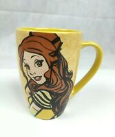 Disney Parks Beauty & The Beast Princess Belle Yellow Mug Cup 5 Inches H3