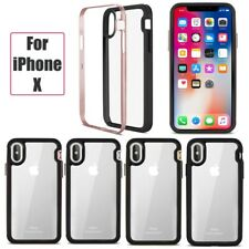 iPhone X Case Shockproof TPU Bumper Hard Plastic Transparent Protective Cover