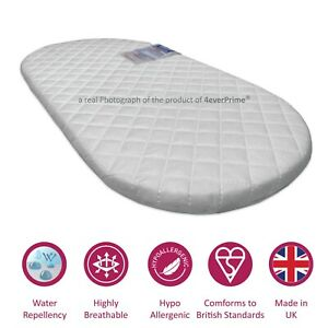 Deluxe Quilted Foam Mattress To FIT Silver Cross WAVE Carrycot Pram All Models
