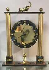 """Tribute to Cartier 2""One of The Kind Desk or Mantle Clock"