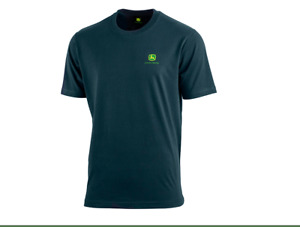 Genuine John Deere Round Neck T shirt In Navy Mens Adults Gents Christmas