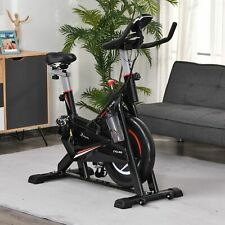HOMCOM Indoor Cycling Bike Upright Stationary Exercise Bike Cardio Workout