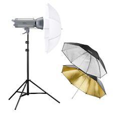 walimex pro VC Excellence Studioset Start 400 L, Blitzleuchte, Stativ, Schirme