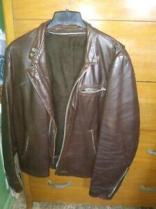 Serval 1970s Leather Jacket Vintage sz M/L