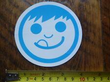 NEFF STICKER Decal HAPPY FACE Blue White NEW