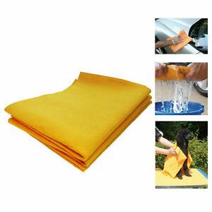 3 x Jumbo Synthetic Shammy Drying Cloths Super Absorbent 35 x 50cm Multi Car Pet