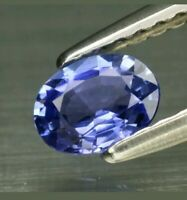 Zafiro Azul purpura 0.39ct 5x3.8mm vs oval natural de Madagascar!!!