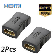 2 x HDMI Female to Female Coupler Extender Adapter Connector F/F for HDTV HDCP