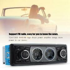 Single Din Bluetooth Car Stereo MP3 Player Audio Radio Support USB/FM