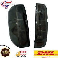 For 2005+Nissan Frontier Navara Tekna Tail Light Rear Lamp Black Smoke Lens Pair