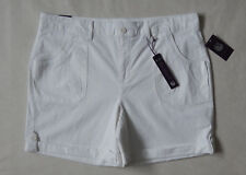 Womens Gloria Vanderbilt Stretch Cargo Shorts Cuffed Size 14 White