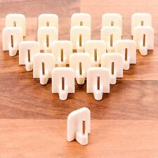 18 X White Self Adhesive Curtain Rod End Sticky UPVC Window Net Wire Hook Holder