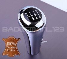 BMW MANUAL 6 SPEED LEATHER & CHROME GEAR KNOB SHIFT E60 E46 E39 E90 E92 E91 Z4
