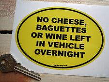 No Baguettes Funny French Van Car STICKER DS 2CV fourgonette AZU H Renault 4