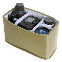 Waterproof DSLR SLR Camera Insert Padded Partition Bag Case Fit 1 DSLR + 4 Lens