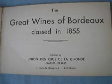 CATALOGUE UCGC 1855 GREAT WINES OF BORDEAUX VINS UNION CRUS GIRONDE IN ENGLISH