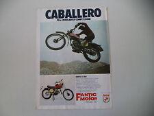 advertising Pubblicità 1975 MOTO FANTIC CABALLERO 50 RC MOD. TX 160