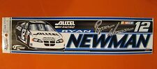"RYAN NEWMAN #12 ALLTEL BUMPER STICKER 3"" x 12"" NEW WINCRAFT RACING NASCAR"