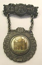 1900 KNIGHTS  of the MACCABEES SILVER PLATE MEDAL FOUNDED IN 1878 A MUST SEE
