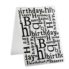 Happy Birthday Letter Word Plastic Embossing Folder for Scrapbook DIY Album Card