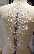 a large piece ivory floral lace applique bridal wedding bolero lace motif By pcs